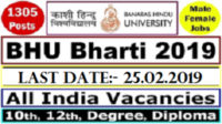 BHU Recruitment 2019